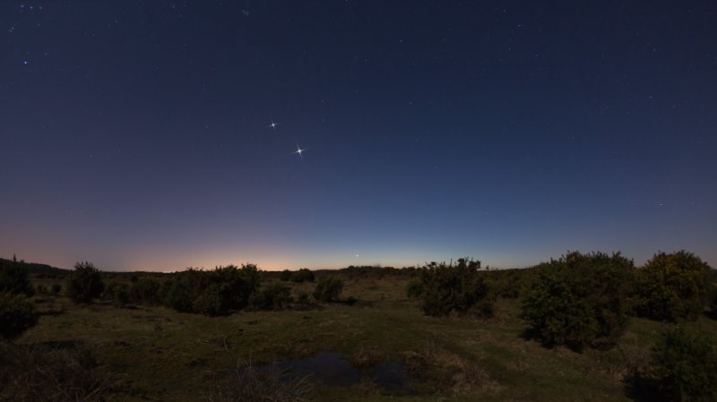 Jupiter, Venus and Mercury
