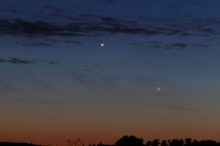 Jupiter and Mercury with pronounced spikes