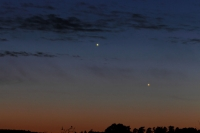 Jupiter and Mercury with small spikes