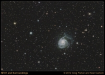 Galaxy M101 in Ursa Major Feb 2012